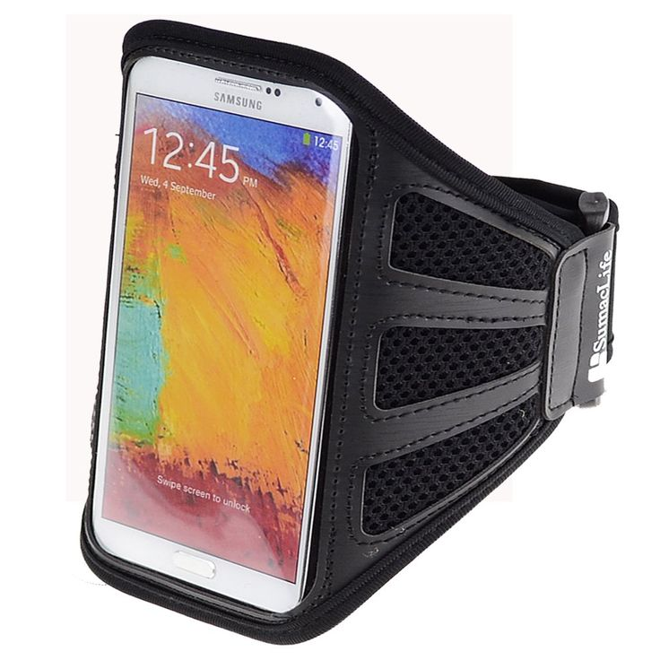 SumacLife Mesh Running Gym Sports Armband Case for Samsung Galaxy Note 3,Samsung Galaxy Note 2,SAMSUNG Galaxy S5 ,Samsung Galaxy S4 (Black Mesh). Comfortable, breathable mesh. Flexible lightweight adjustable armband. Full screen protector allows full touch screen functionality. Cutout design for Earphone port, easy access without removing the case.