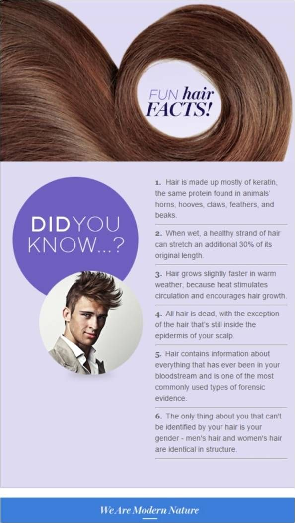 Fun hair facts! Check out amazing products for your hair at www.srahlf.mymonat.com