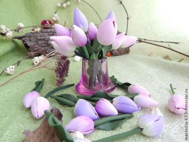 Мастер-класс: тюльпаны-крошки феи - Ярмарка Мастеров - ручная работа, handmade