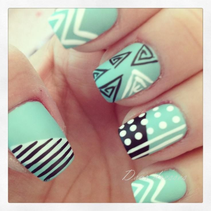 Abnormal nail art. Cute.