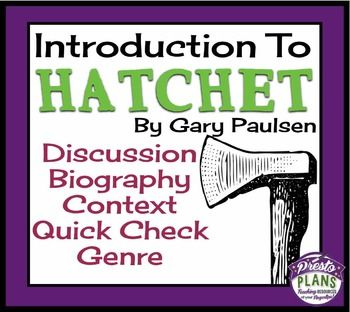 hatchet book report powerpoint Hatchet is the story of brian robeson , a young boy who finds himself alone in the canadian wilderness during this web quest you will explore parts of canada.