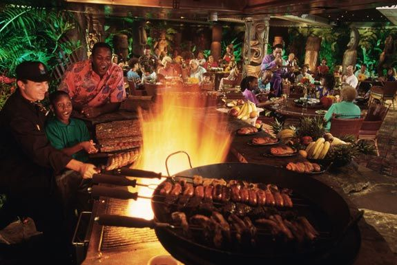 Dinner at 'Ohana, Disney World's Polynesian Resort (request a window table for prime viewing of the Magic Kingdom Wishes Fireworks)