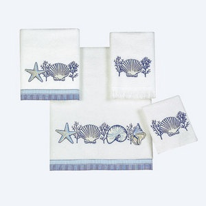 1000 images about wrap it up seaside towels on - Beach themed bathroom towel sets ...
