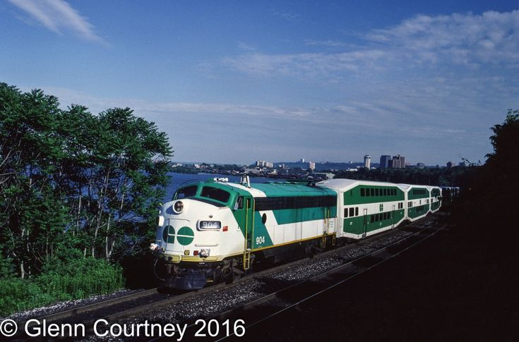 There was a time when GO Transit had quite a variety of locomotives leading its trains. Like many commuter agencies it expanded its network in fits and starts and its motive power followed suit. GO 904 was one of GO's APCU fleet (Auxiliary Power Control Unit), F units that no longer powered the train but provided power to the cars and a cab when the train was in push mode.   I likely would not attempt a shot from this location today. This is train #982 deadheading back to Willowbrock for the…