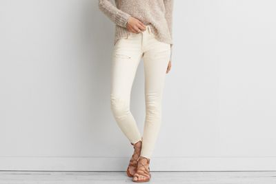 AEO Twill X Super Low Jegging  by  American Eagle Outfitters | High-performance stretch with a buttery soft feel that won't bag out. Shop the AEO Twill X Super Low Jegging  and check out more at AE.com.