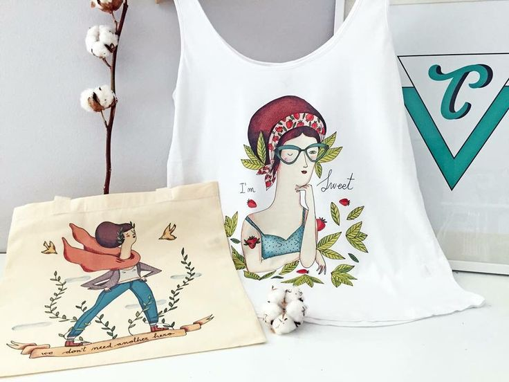 T-agged!! You can find t-shirts and tote bags with my illustrations!! http://www.t-agged.com/