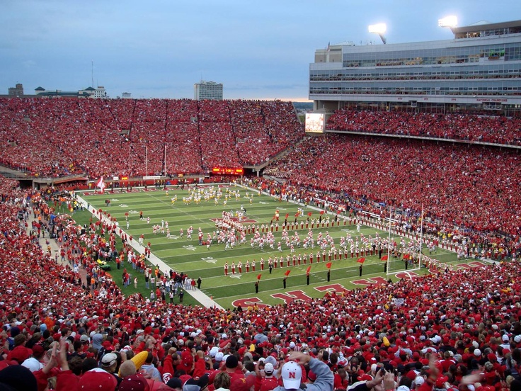 University of Nebraska Cornhuskers football - Memorial Stadium: Favorite Places, Nebraska Huskers, Memorialstadium, Nebraska Football, Big Red, Nebraska Cornhuskers, Football Stadium