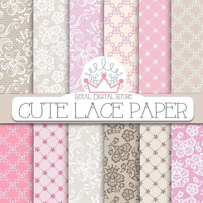 "Lace Digital Paper: "" Cute Lace Digital Paper"" with lace background, lace texture, pink lace, beige lace, vintage lace pattern, brown lace https://www.etsy.com/listing/191862178/lace-digital-paper-cute-lace-digital?ref=shop_home_active_1"