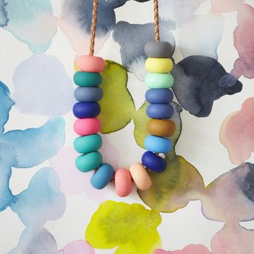 Hazel Necklace by Melbourne-based designer Emily Green // great to see some colourful Australian design :)