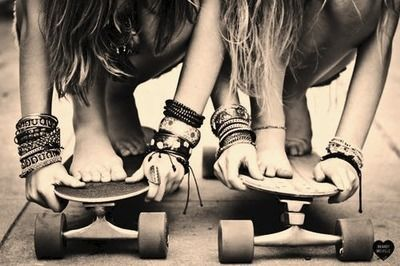 It'll be fun if you learn that and skate with a friend together..