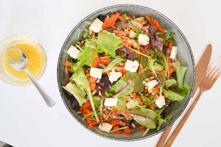 Vezelrijke salade met Spelt & Appel Vinaigrette
