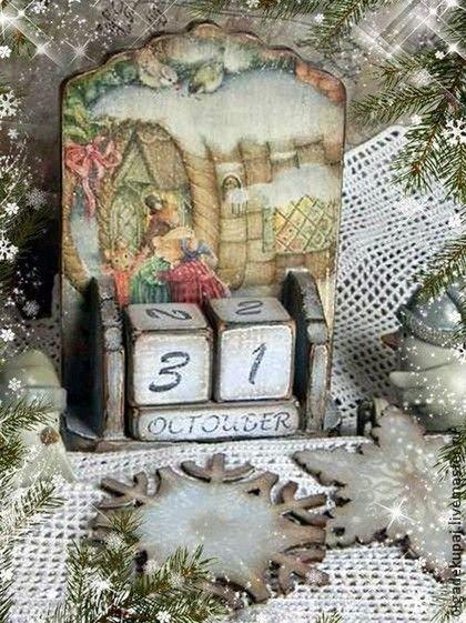 """""""Встреча"""" Календарик - календарик новогодний,вечный календарь,календарь подарок"""