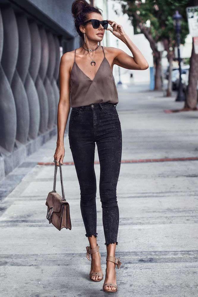 18 hoch taillierte Jeans und wie man sie trägt