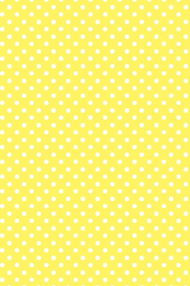Yellow Polka dot wallpaper