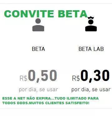 convite tim-beta/ entrega grátis