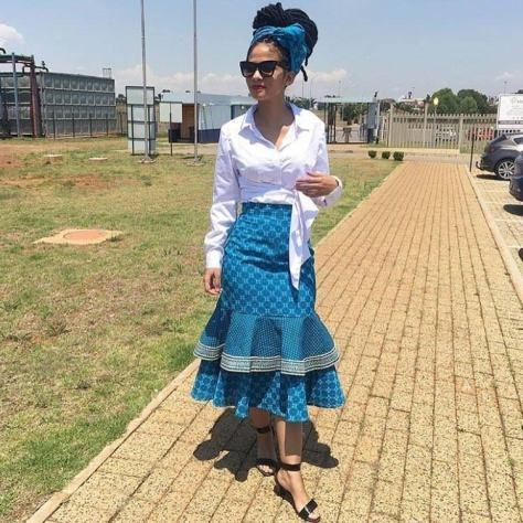 South african traditional shweshwe outfits for ladies 2018 - Styles Art