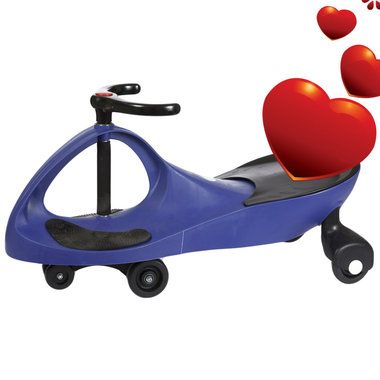 The Purple Wiggle Racer* ride-on car doesn't require an expensive power source that needs constant replacement. No batteries! No power-cells! No liquid fuel! It provides kids with plenty of exercise, more so than most toys. All it needs to operate is a driver and a smooth, flat surface.