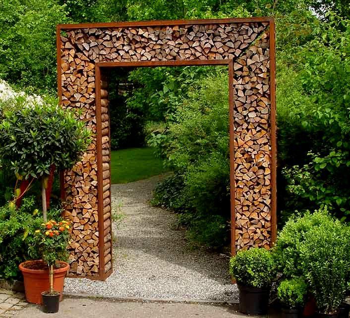Schon Architektur Torbogen Garten Brennholzrahmen Brennholz Garten Projekte Im Freien
