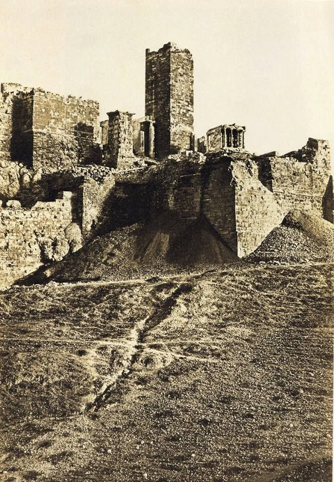 Acropolis, Athens, 1852 - photo by Eugene Piot