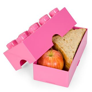 LEGO Lunchbox  Play with your food,  In black, red, or pink.