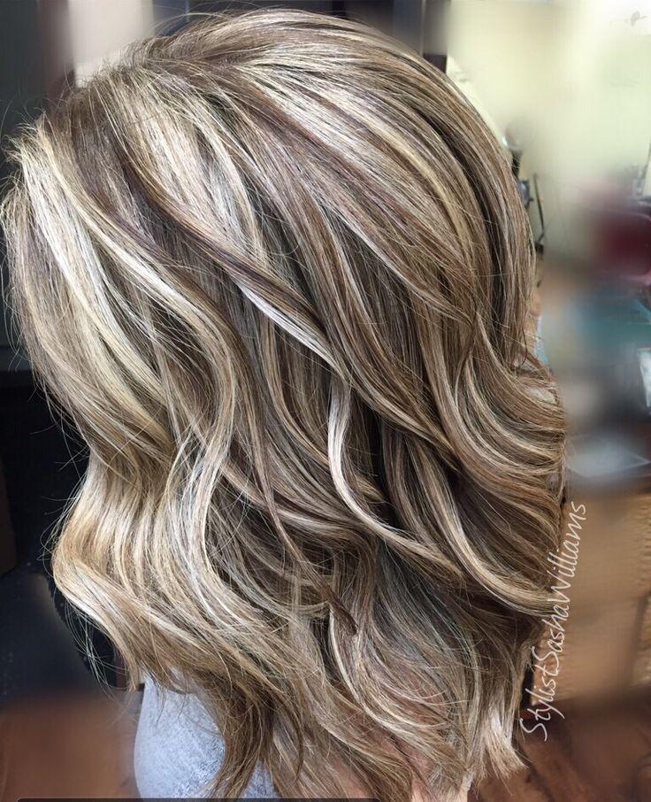 highlights lowlights blonde hair