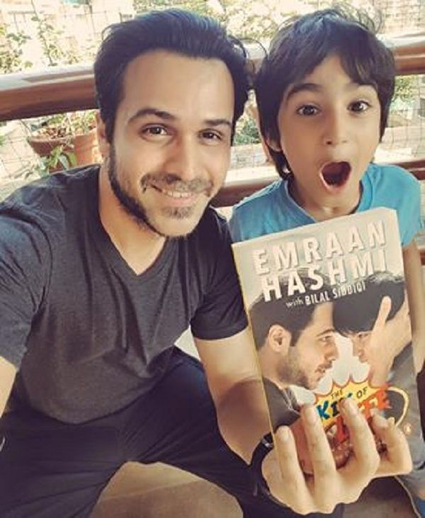 Azhar actor Emraan Hashmi along with his son UNVEIL their book The Kiss of Life in the CUTEST way possible!  watch video!