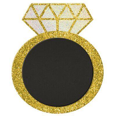 Amscan Glitter Ring Free Standing Chalkboard in 2021