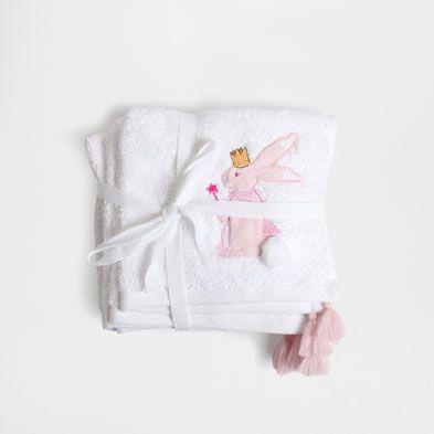 HANDDOEK MET POMPONS EN GEBORDUURDE - Handdoeken - Bad | Zara Home Netherlands