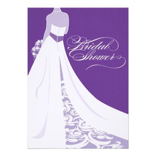 Bridal Shower | Elegant Purple Bridal Shower Invitation from Zazzle.com