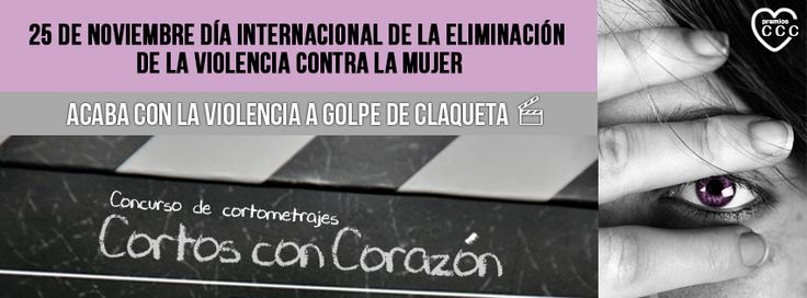 ¡Lucha contra la #ViolenciadeGénero a golpe de claqueta! Participa en el Concurso de Cortometrajes #CortosConCorazón. Más info en http://www.mueblesboom.com/cortos-con-corazon/
