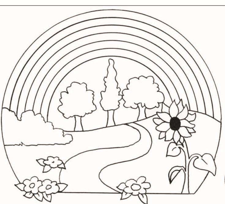 Ausmalbilder Regenbogen Ausdrucken In 2021 Kids Rugs Rainbow Drawings