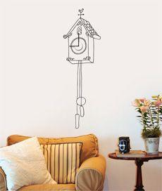 relógio cucoo. relógio de parede adesivo. funcional. Criado por Leo Conrado.