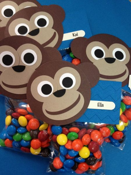1st Birthday Monkey Style - More Treat Bags by Christine Gaydos