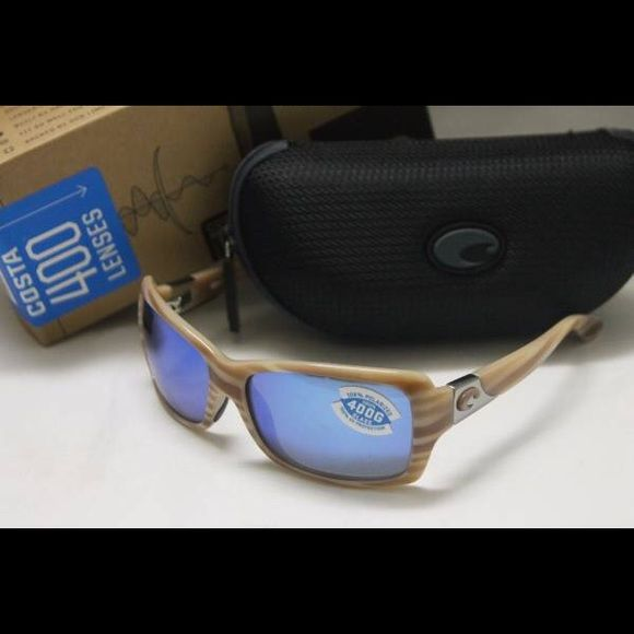 Costa Del Mar Islamorada Polarized 400G Sunglasses Brand new in the box Costa Del Mar Islamorada POLARIZED Women's Sunglasses with Morena Frame and Polarized 400G Blue Mirror Glass Lens.  Includes Costa box, zippered case, and paperwork. 100% authentic direct from Costa.  MSRP is $199+ tax.  Model number IL62BMGLP.   Very rare color combination.  I ship out within 24 hours.   Thank you for looking and have a wonderful day! Costa Del Mar Accessories Sunglasses