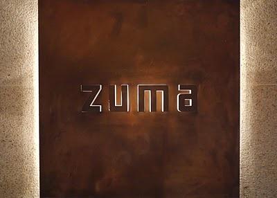 ZUMA at The Landmark in HK. For modern Japanese.