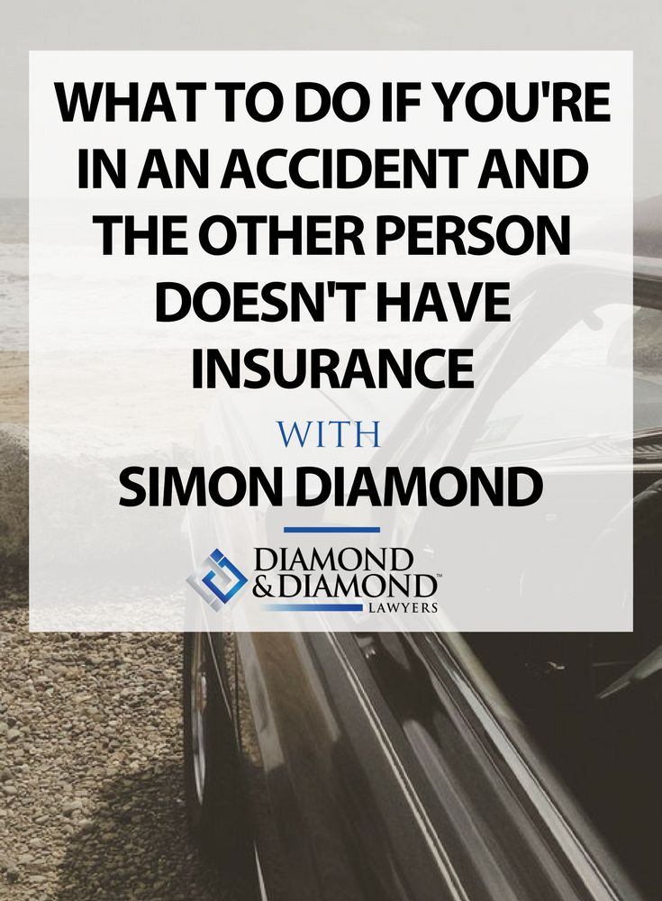 Simon Diamond shares what steps you can take when filing a #claim if you are in an accident with an uninsured motorist.