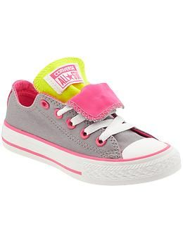 Converse Chuck Taylor All Star Double Tongue (Toddler/Youth) | Piperlime | See more about Converse Chuck Taylor, Chuck Taylors and All Star.