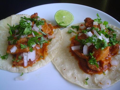 No hard-shell tacos or cheddar and lettuce.. this is what a real Mexican taco looks like YUM!