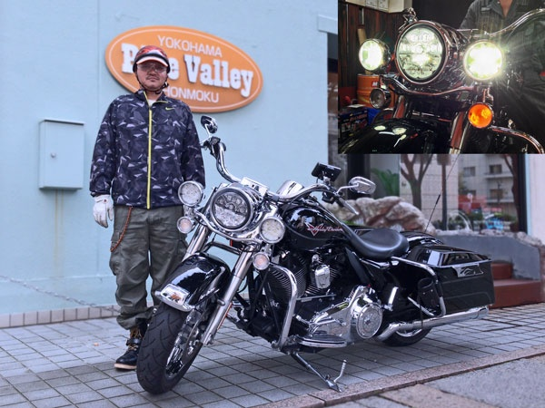 2012年9月24日ご来店  Harley Road King + Kuryakyn L.E.D. HEADLAMP & PASSING LAMPS