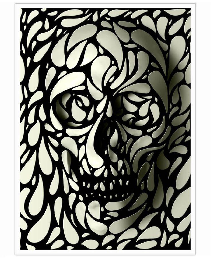 Skull IV of Ali Gulec now on JUNIQE!