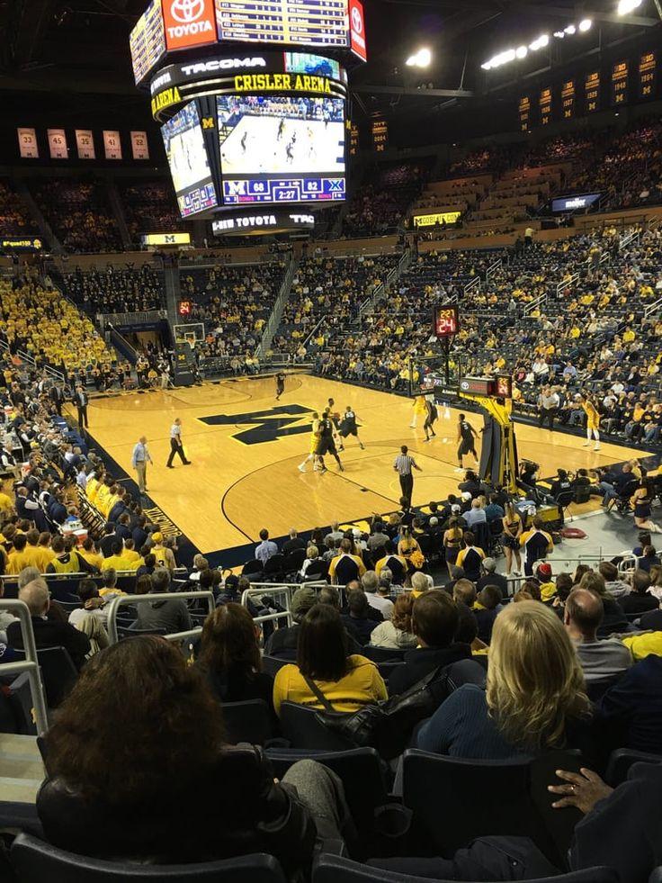 Crisler Center in Ann Arbor, Michigan - Wolverines Basketball Game