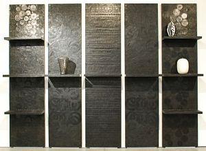 Biblioth que murale en 5 l ments metal inspiration - Bibliotheque murale but ...