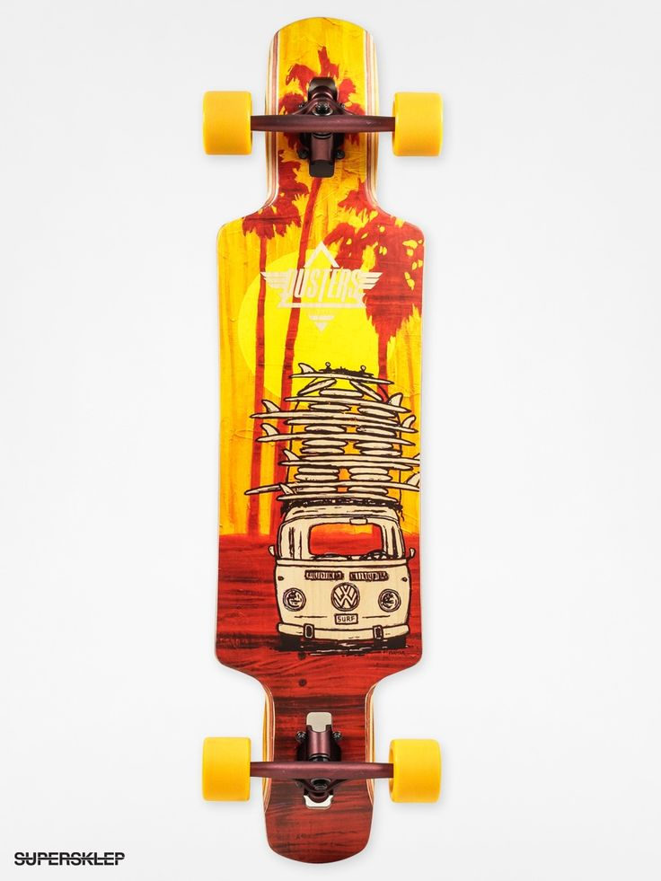 Longboard Dusters California Quiver (yellow/maroon)