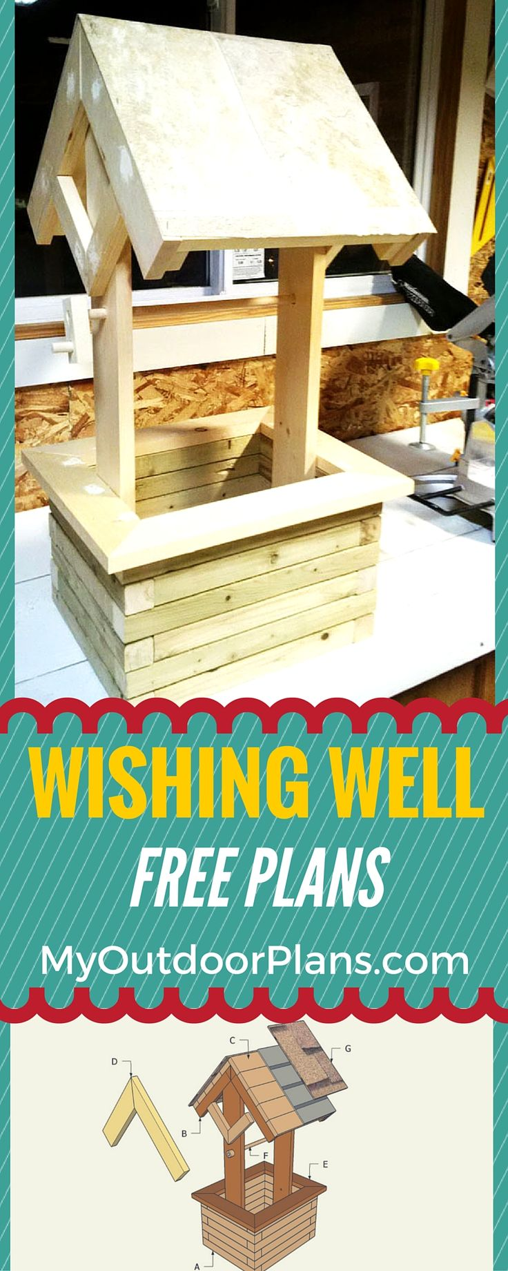 Garden designs with bridges and wishing wells landscaping ideas - How To Build A Wishing Well Planter Free Plans For You To Build A Mini