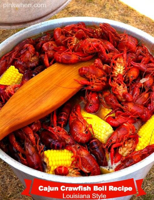 A Louisiana Style Cajun Crawfish Boil Recipe. A must try for your next outdoor party! www.pinkwhen.com