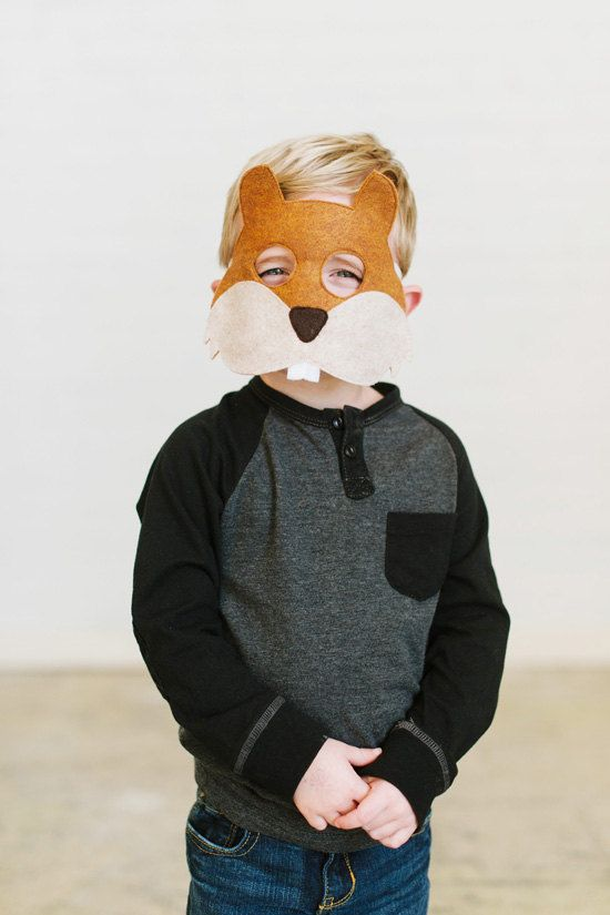 Squirrel Mask CHILD by oppositeoffar on Etsy, $18.00