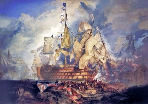 J.M.W.Turner「The Battle of Trafalgar」(1824)