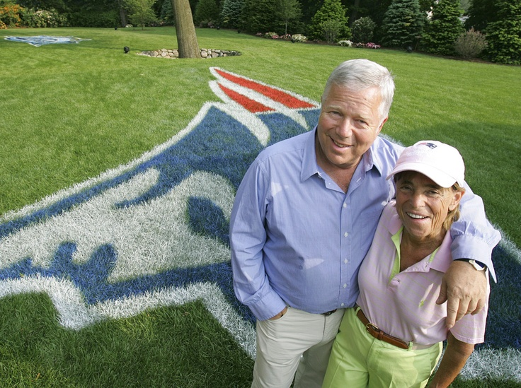 Bob and Myra Kraft- I'm pretty sure she was the one that pushed the infamous field goal to the left. RIP. (got this off google images)