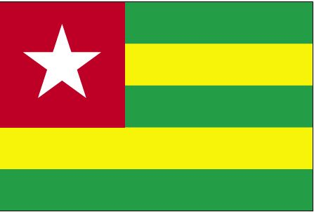 Country Flags: Togo Flag