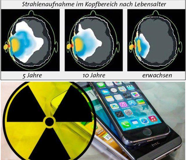 Die neue Modellgeneration der iPhones weist hohe SAR-Werte (Spezifische Absorptionsrate) auf und strahlt damit stärker als die der Konkurrenz. Apple verweist darauf, die Geräte nicht direkt am Körp…